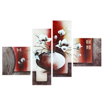 4Pcs Modern Abstract Canvas Painting  dholki decor, shavuot decoration, graveside decorations #homedecorindo #homedecorindonesia #homedecorjakarta