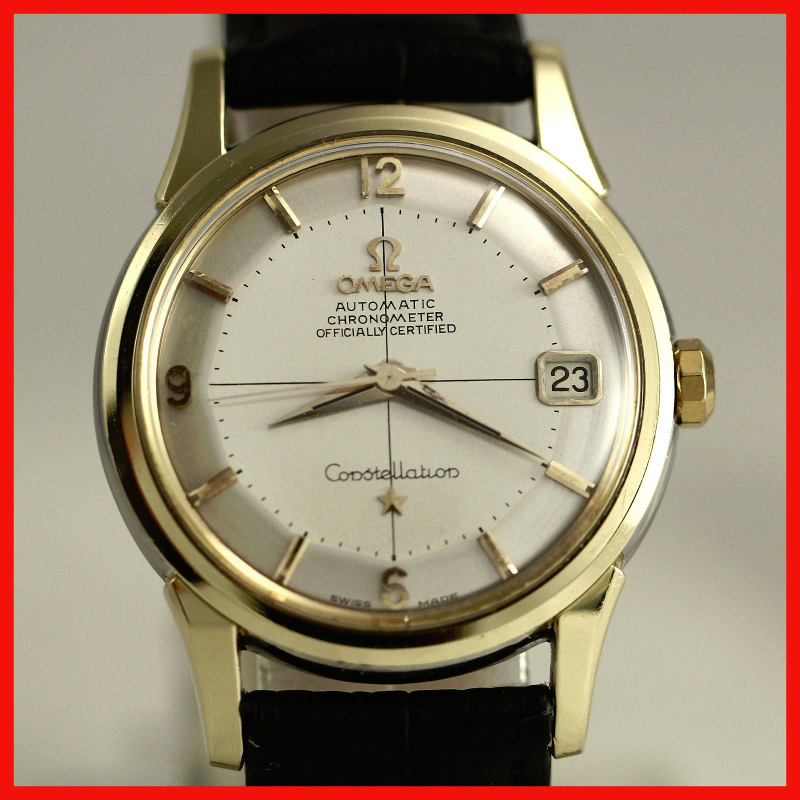 VINTAGE OMEGA CONSTELLATION 14393 PIE PAN 14K GOLD SS BACK AUTO MENS WATCH N/R https://t.co/V8NmwTngvO https://t.co/TSuAq8H0UE