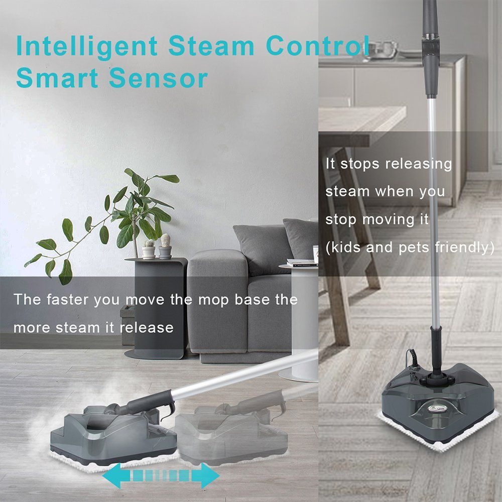 Steam Mop Floor Steamer S7339 Automatic Steam Control Light N Easy Bendable Handle Steam Mops For Tile Hardwood Floor Cl Steam Mops Steam Mop Animals For Kids
