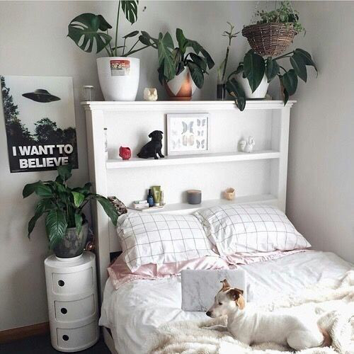 Room Bed And White Image Room Decor Boho Tumblr Aesthetic