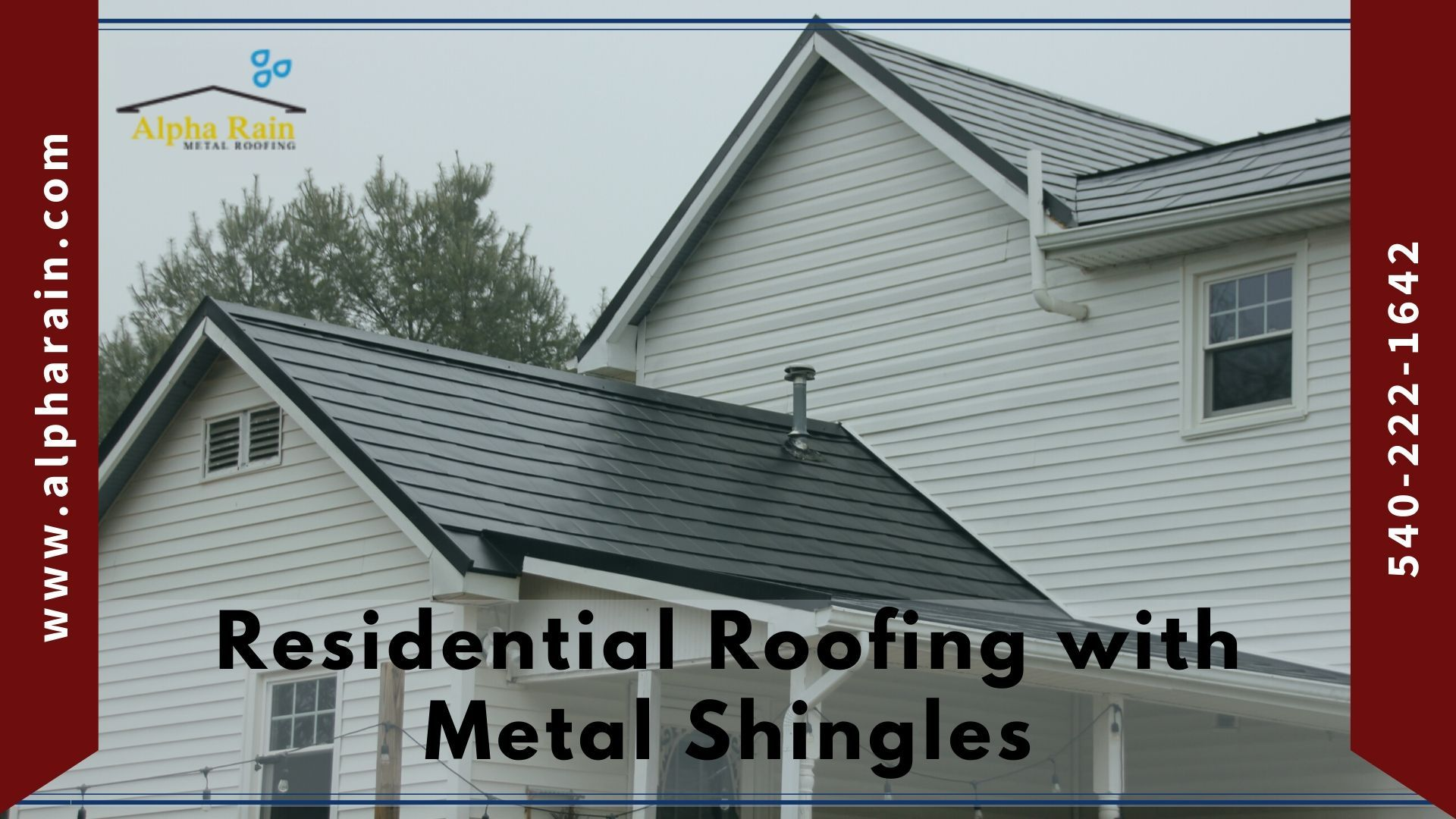 Residential Roofing With Metal Shingles Alpha Rain In 2020 Metal Shingles Residential Roofing Roofing