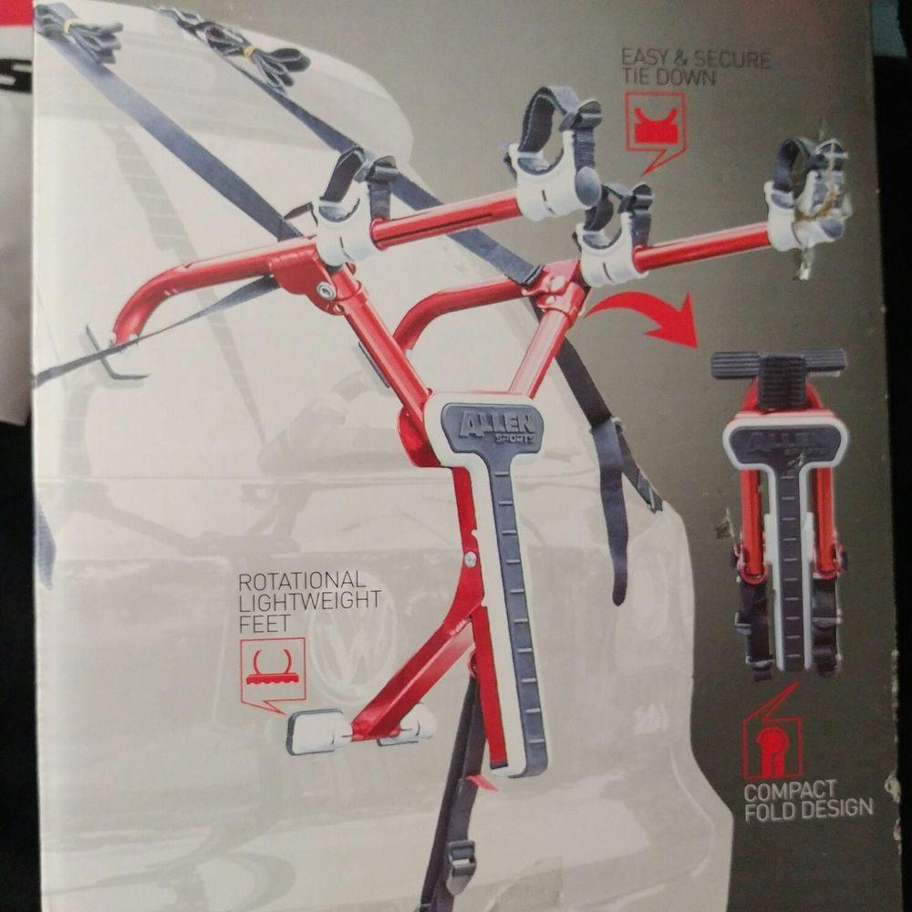Allen Sports Aluminum Folding Trunk 2 Bike Mount Rack