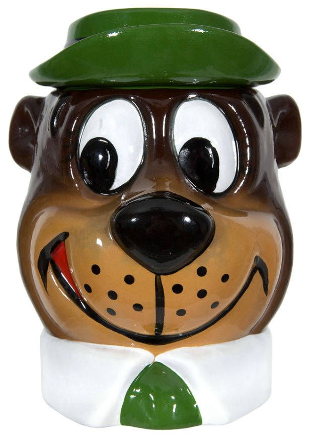 *YOGI BEAR HEAD ~ Cookie Jar