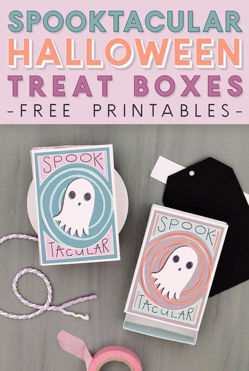 Spooktacular Printable Halloween Matchbox Treat Boxes Persia Lou In 2020 Halloween Printables Halloween Treat Boxes Halloween Printables Free