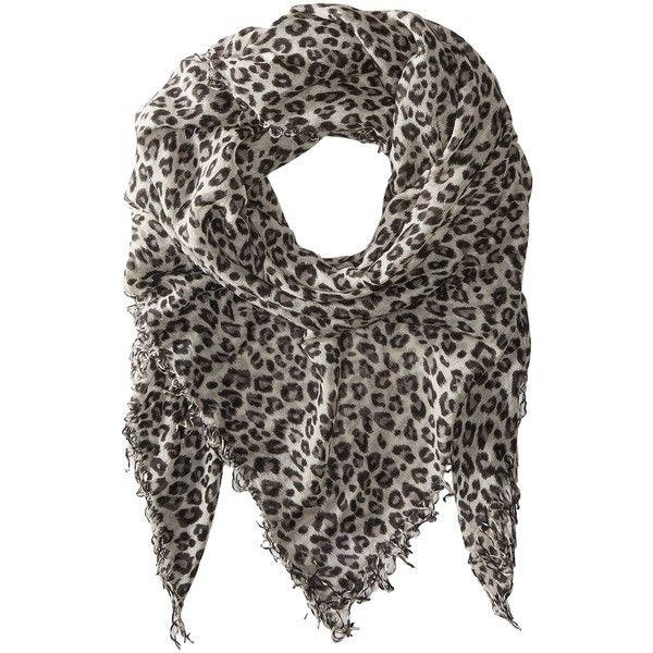 Chan Luu Leopard Cashmere and Silk Scarf (Dove Combo) (330 CAD) ❤ liked on Polyvore featuring accessories, scarves, fringe shawl, chan luu scarves, leopard scarves, pure silk scarves and silk shawl