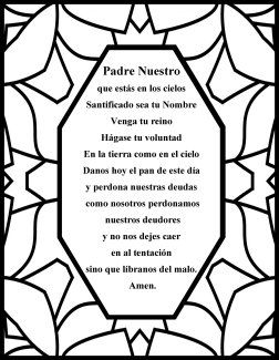The Lords Prayer Spanish