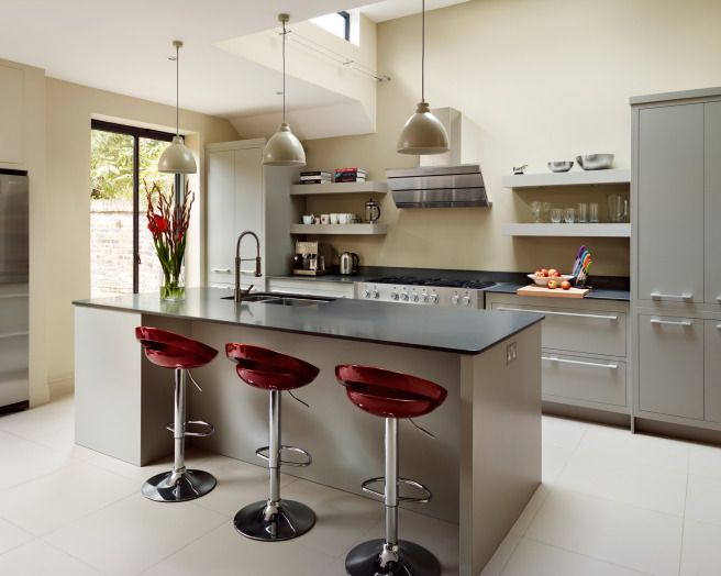 photo of contemporary funky modern grey maroon harvey jones kitchen with island kitchen lighting : funky kitchen stools - islam-shia.org