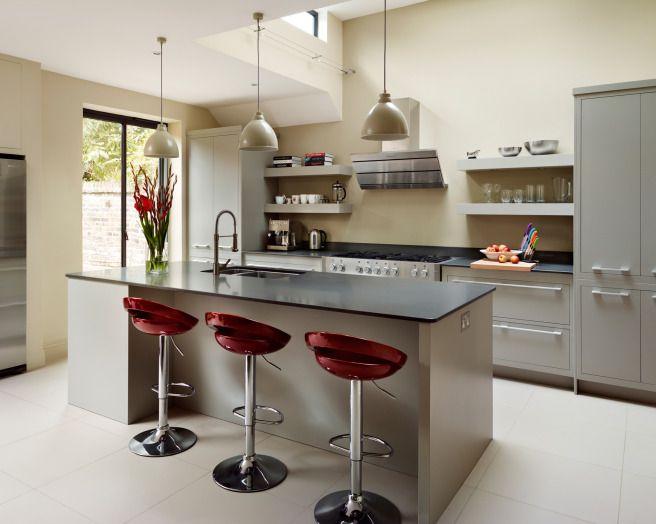 photo of contemporary funky modern grey maroon harvey jones kitchen with island kitchen lighting & photo of contemporary funky modern grey maroon harvey jones ... islam-shia.org