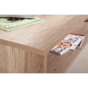 Table basse design en bois coloris chêne brut - Achat / Vente table basse Table basse design en bois ... - Soldes* d'hiver dès le 6 janvier Cdiscount
