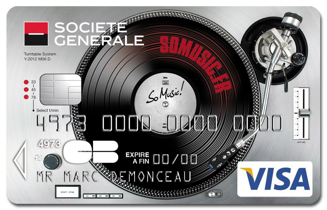 Exceptionnel Carte #Visa So Music Platine #DJ Société Générale. Elle change de  HG04