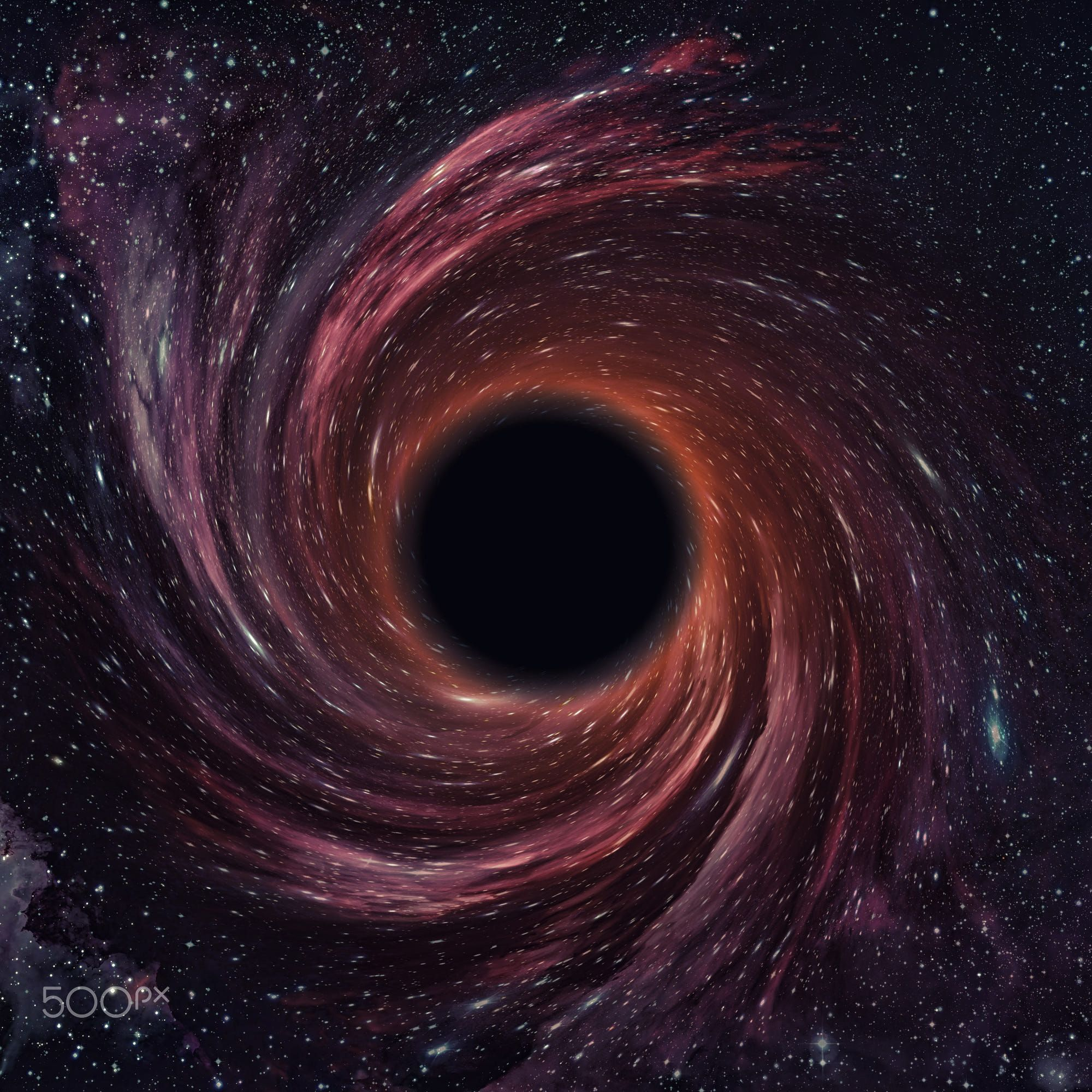 Black hole in space. Elements of this image furnished by ...