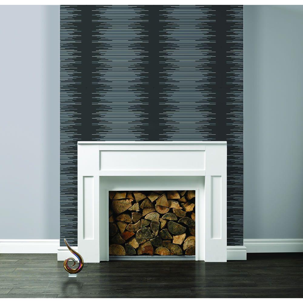 Wilko Best Stripe Black Wallpaper   Black wallpaper ...