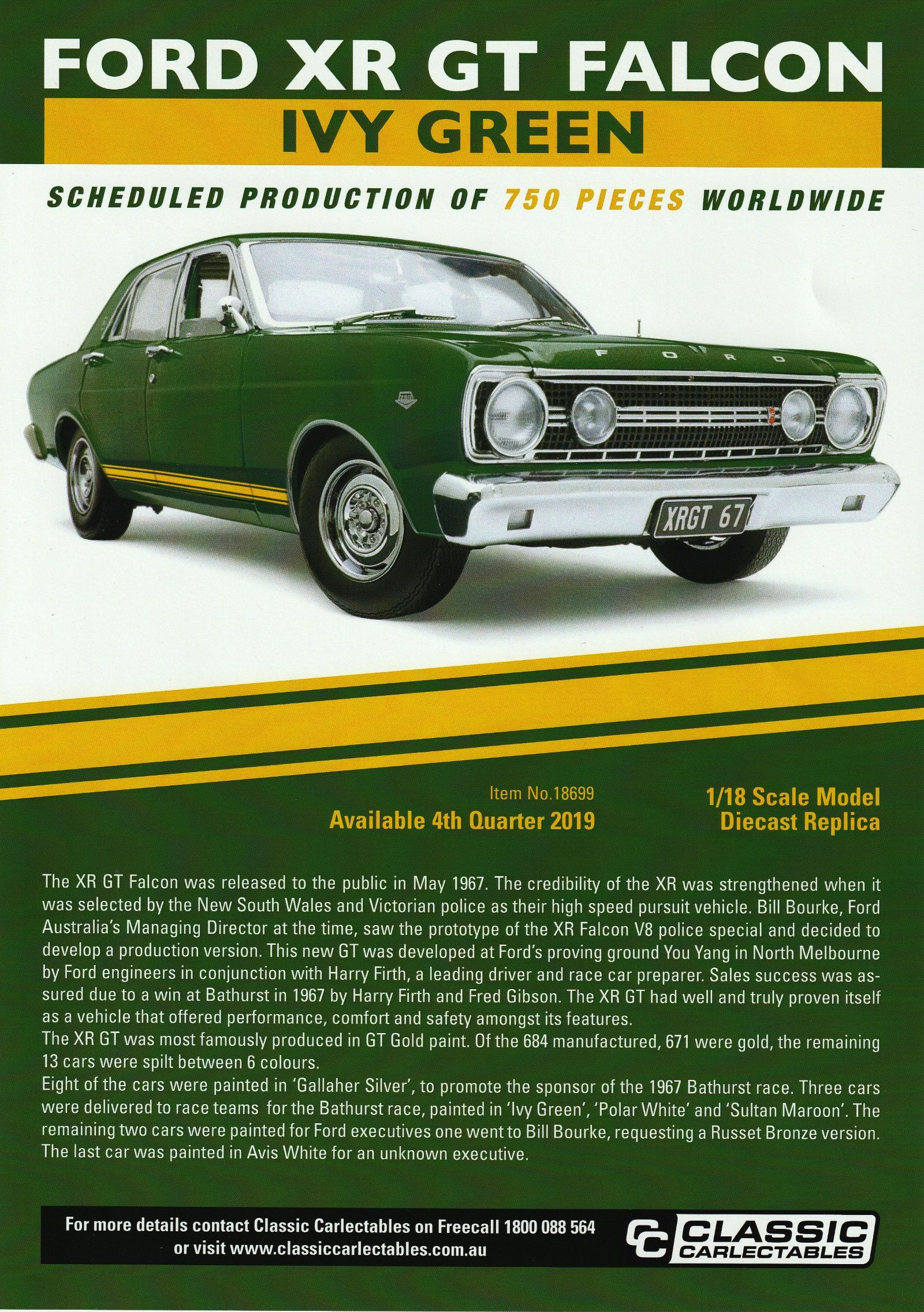 Ford Xr Gt Falcon In Ivy Green Australian Muscle Cars Ford Falcon