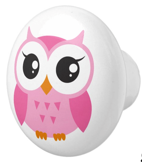 Pink owl door knob. Pink owl door knob. Ideal for a girl\'s nursery ...