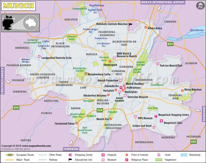 Map showing airports, highway roads, railways, rivers, tourist ...