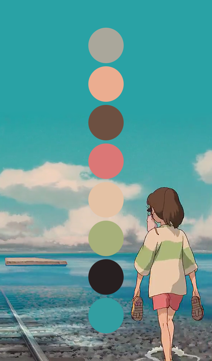 Art Hayao Miyazaki Spirited Away Design Inspiration Color Chihiro - These colour palettes inspired by famous movie scenes are beautiful