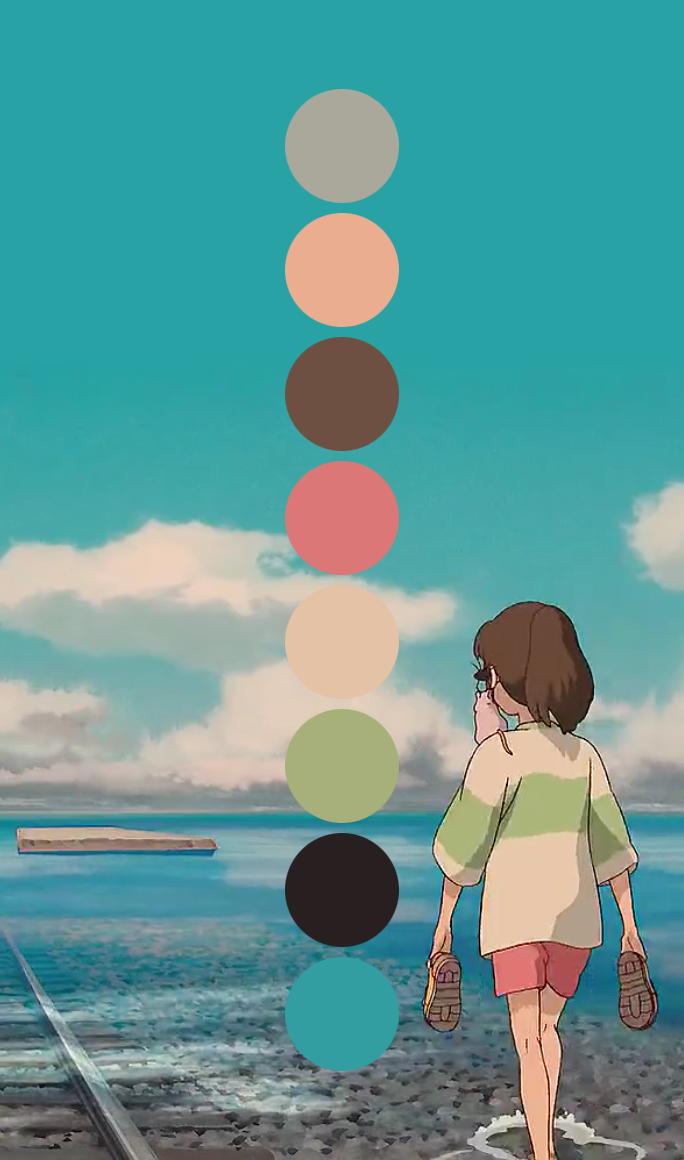 Art Hayao Miyazaki Spirited Away Design Inspiration Color Chihiro Studio Ghibli Miyazaki Ghibli Palette Palettes Ghibli Palette Studio Ghibli Art Ghibli Art