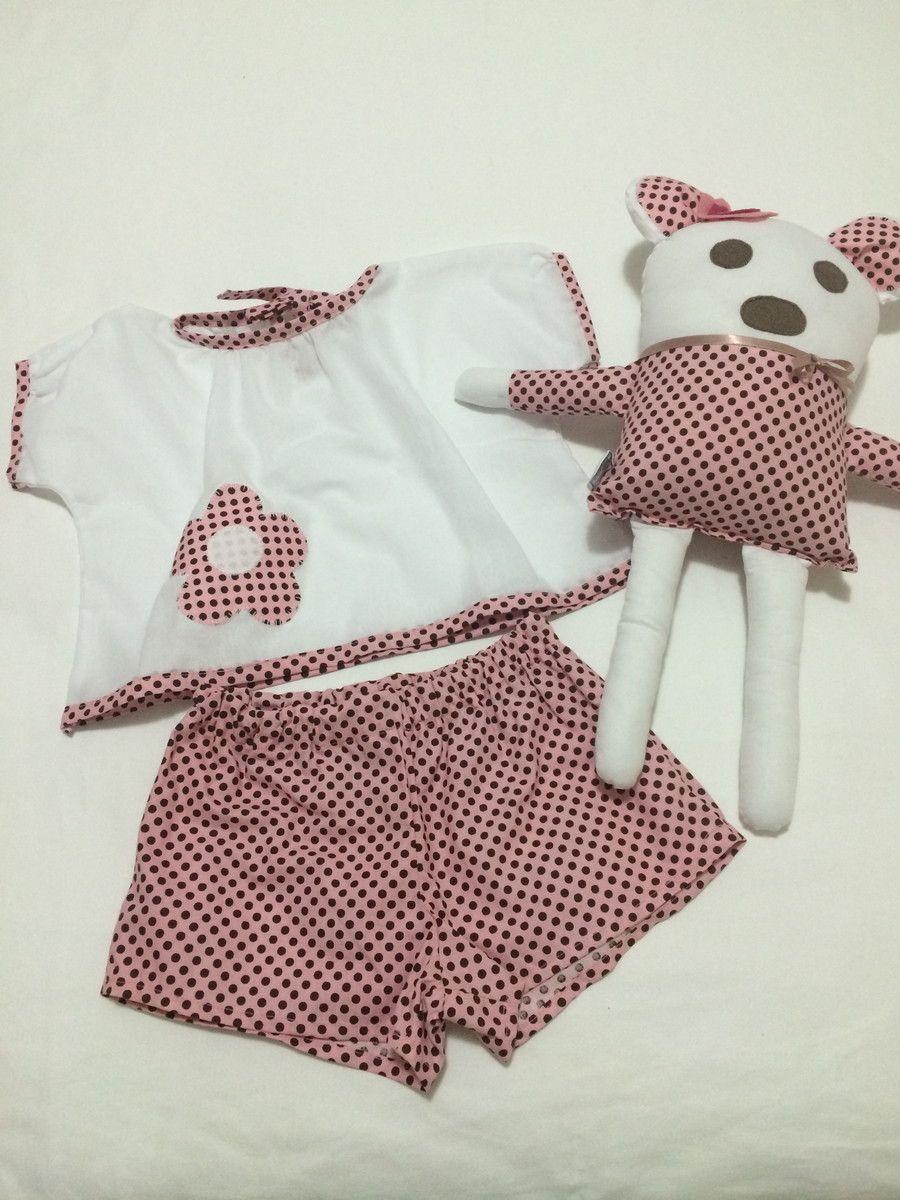 Pijama Infantil 100% Algodão.  Naninha para bebês e crianças  Produzido sob encomenda dos tamanhos 2 a 12.