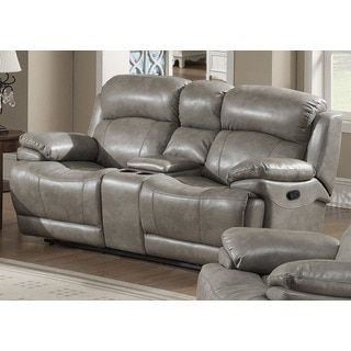 Evan Transitional Reclining Loveseat W/ Storage Console By AC Pacific