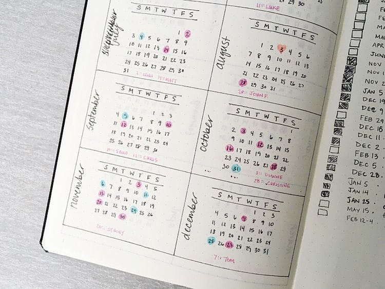 Year Calendar Bullet Journal : Jan how to bullet journal the absolute ultimate guide