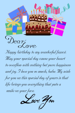 Happy birthday letter for fiancee from fiance with birthday
