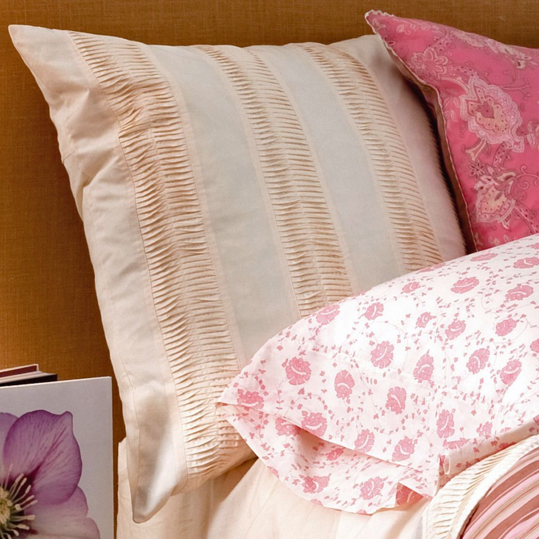 Berry Camille Euro Sham in Organic Oyster Percale