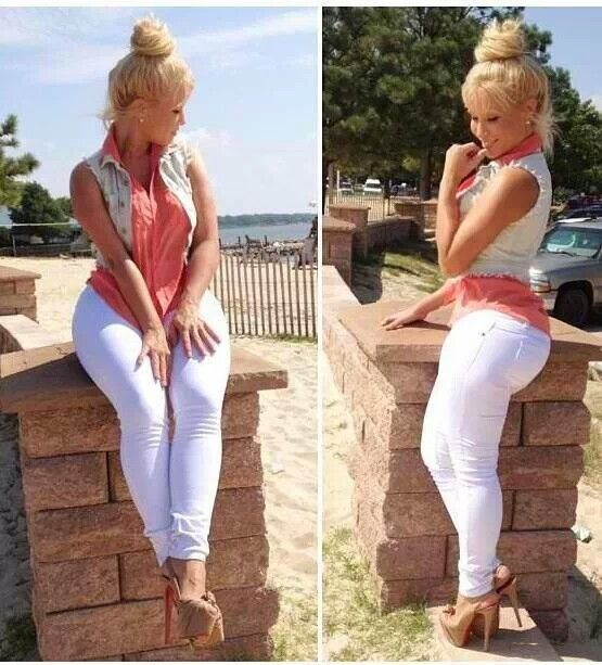 CAN I BE A CURVY GIRL IN WHITE JEANS, PLEEEEEASE? …   Pinteres…