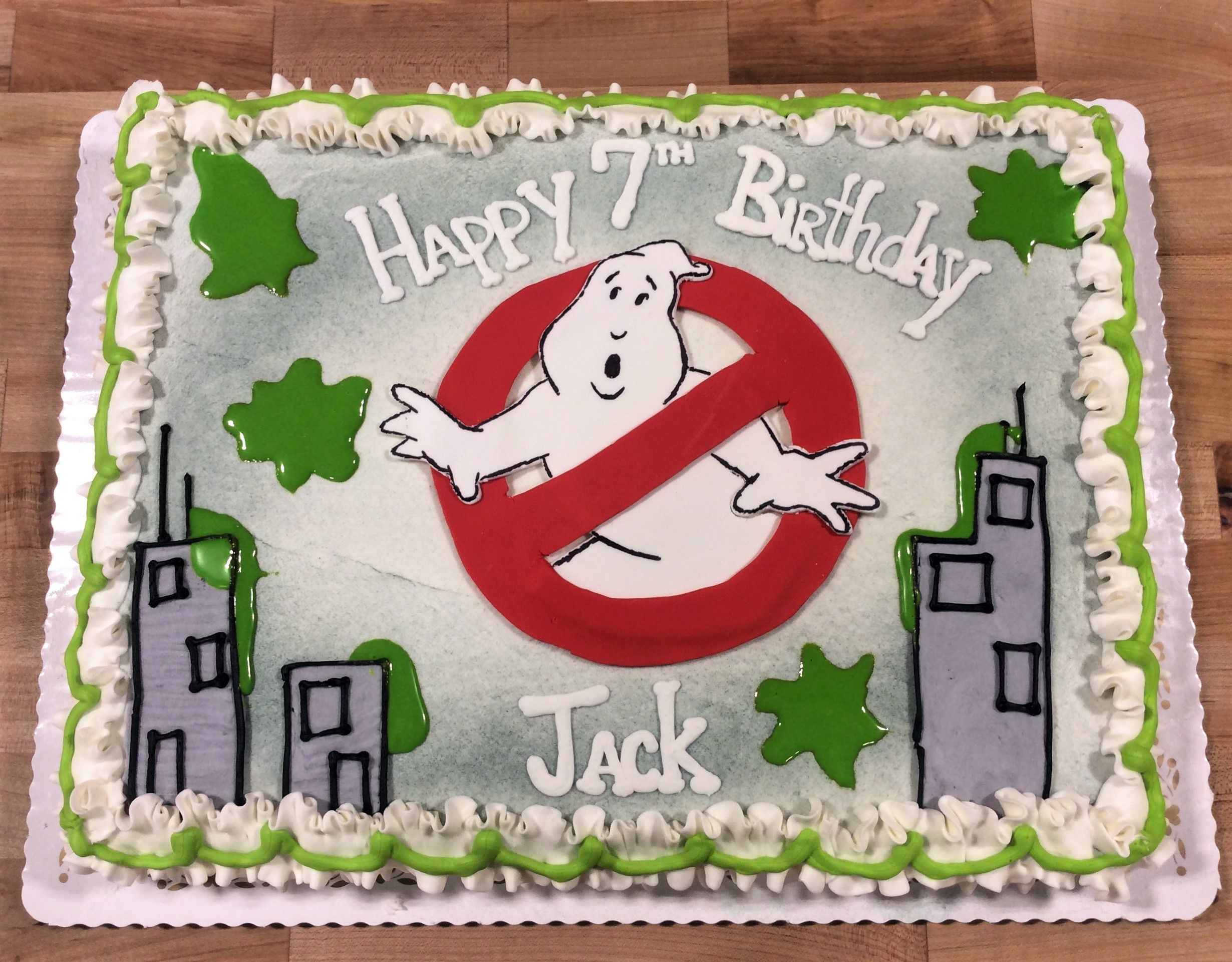 Prime Ghostbusters Sheet Cake With Images Ghostbusters Birthday Funny Birthday Cards Online Alyptdamsfinfo