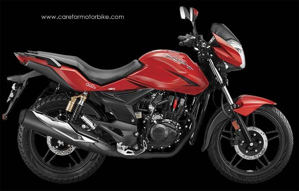Hero Xtreme Motorcycle Fiery Red Colour Motorcycle Motorcycle