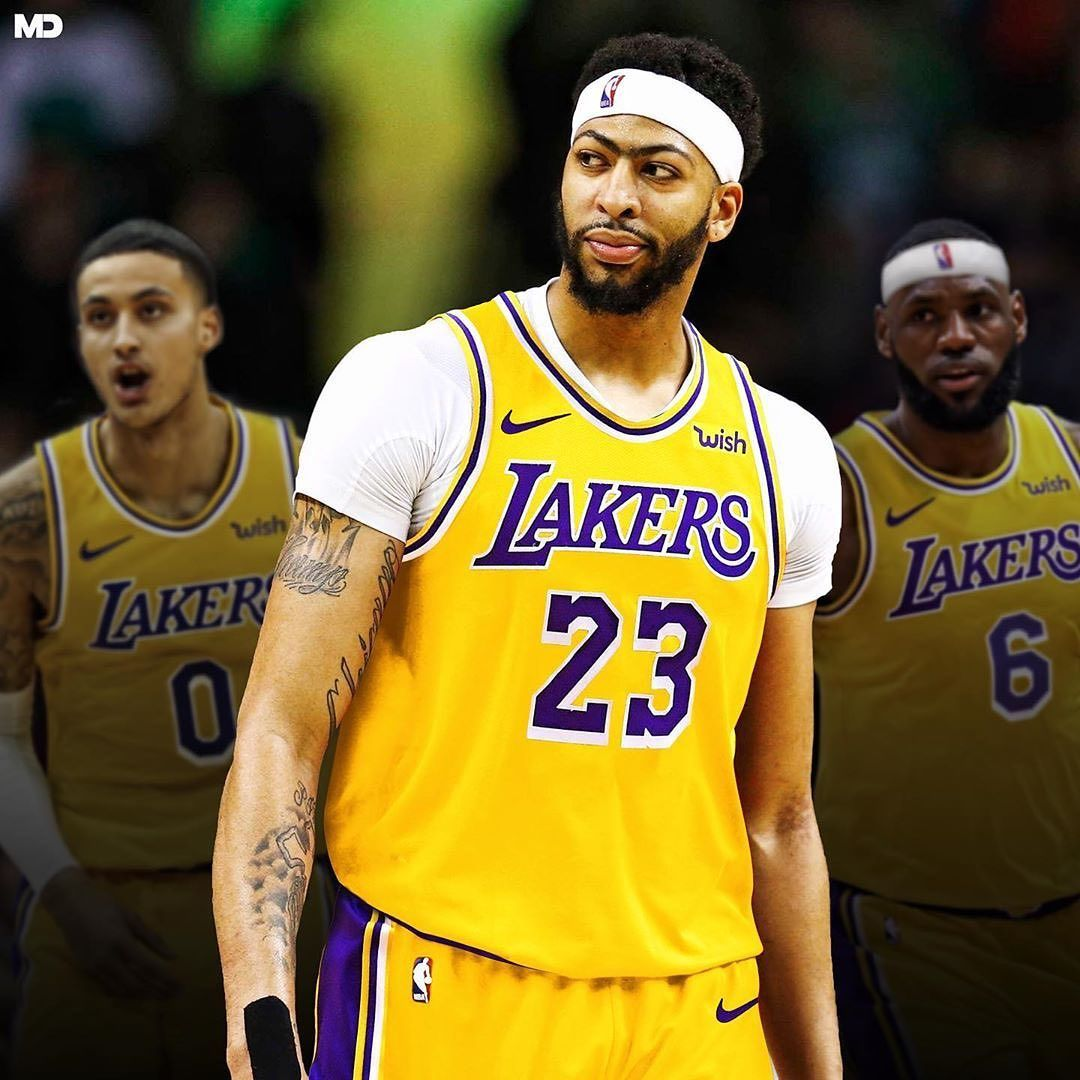 Team Lakers On Instagram Lakers Anthony Davis Breaks Silence For His First Interview Since Trade My Goal Is To Anthony Davis Lebron James Lakers Lakers