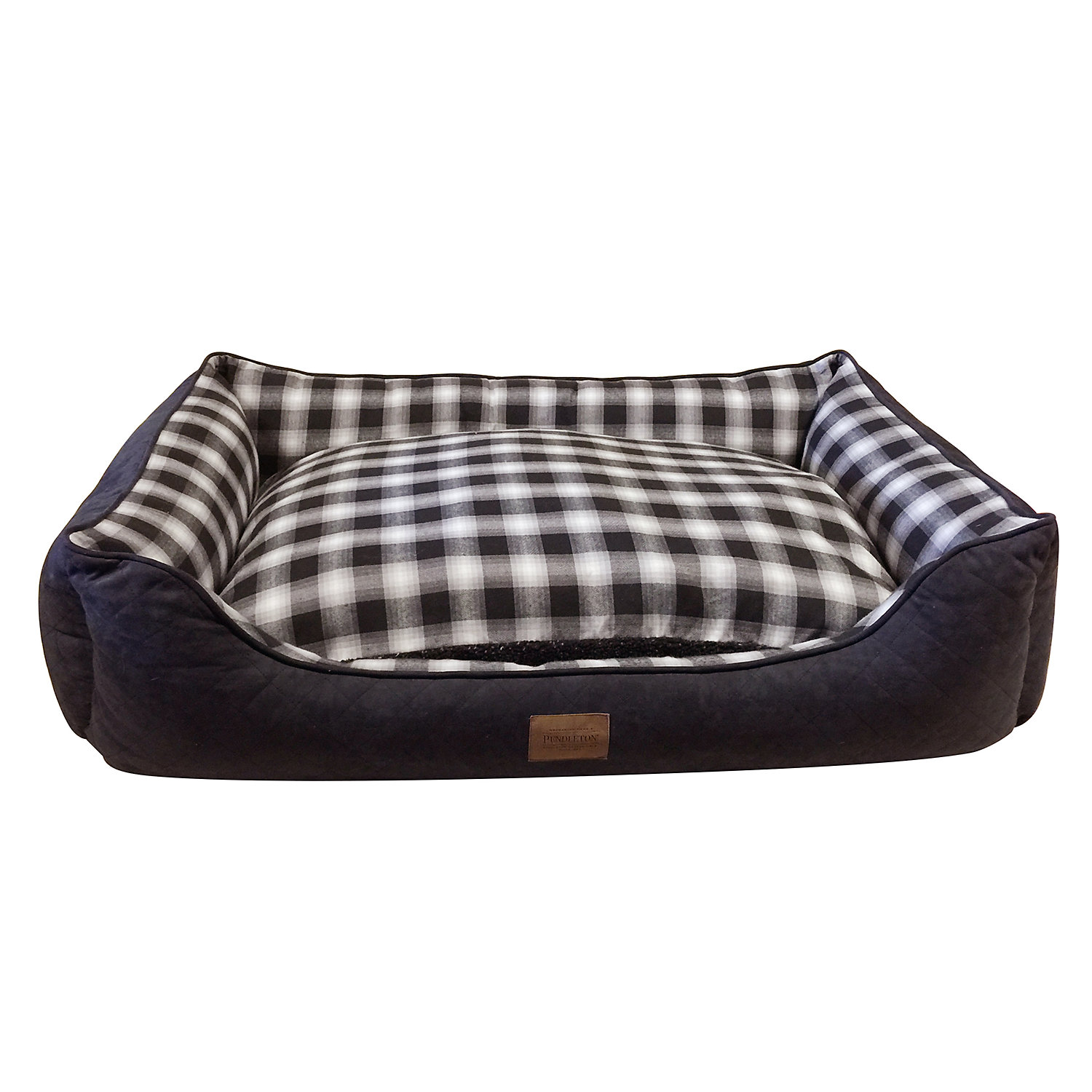 """Pendleton Plaid Kuddler in Charcoal Ombre, 35"""" L x 26"""" W"""