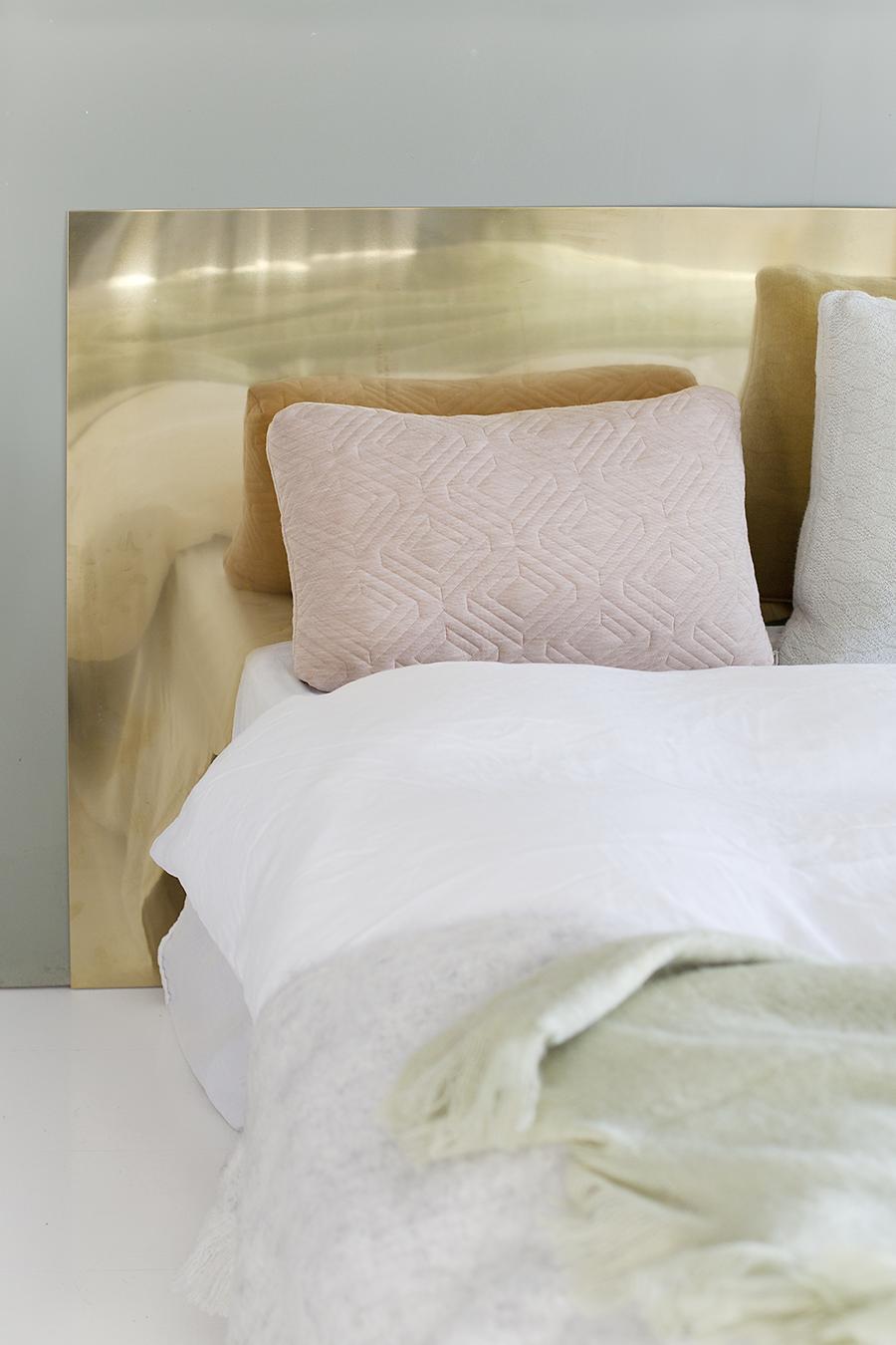 Blush Cushion With Brass Gold Home Decor Accent Blush Decor