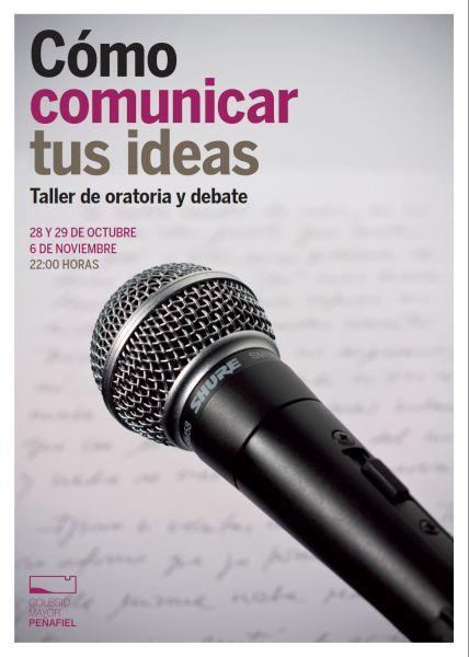 Cartel del Curso de Oratoria de Colegio Mayor Peñafiel