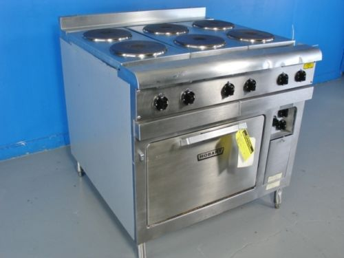 Hobart Cr43 6 Burner Commercial Electric Range Stove And Oven