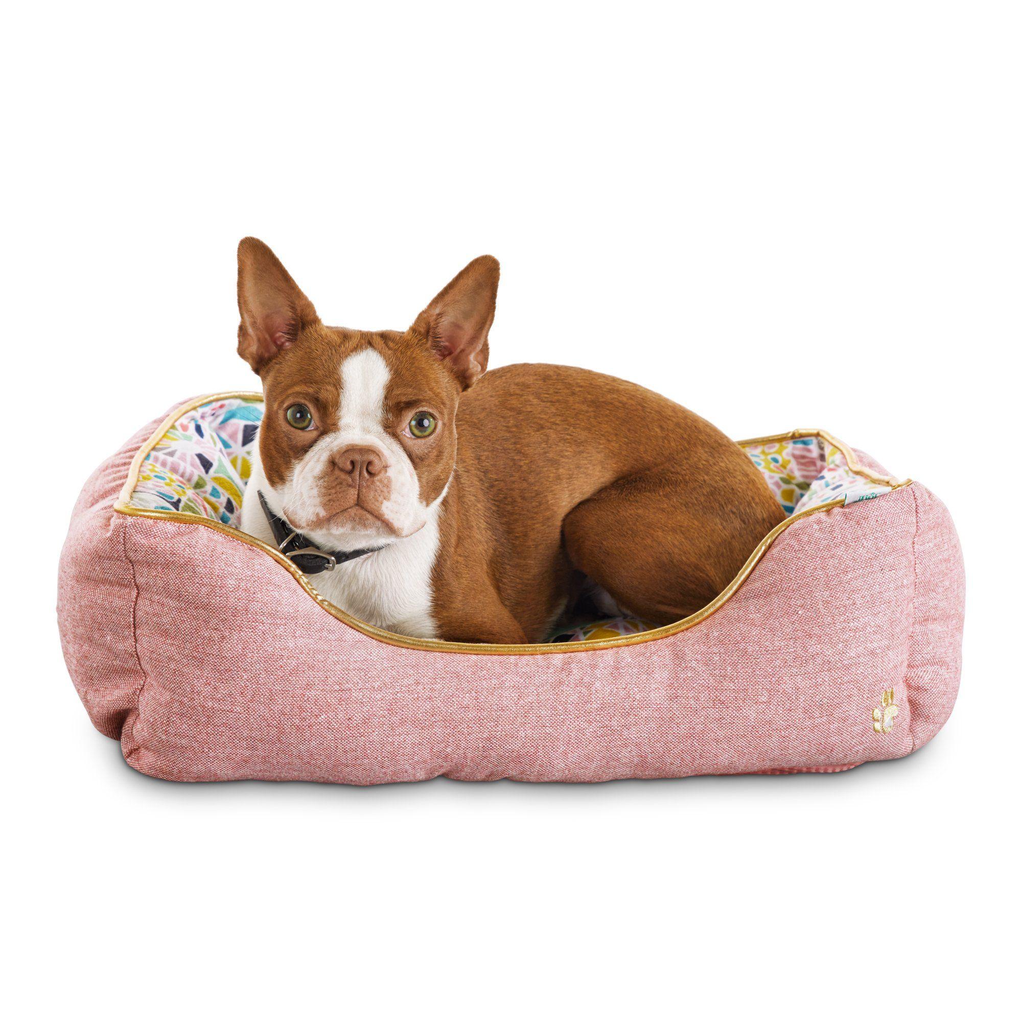 Oh Joy Oh So Comfy Geometric Pink Pet Bed Petco Pets Pet