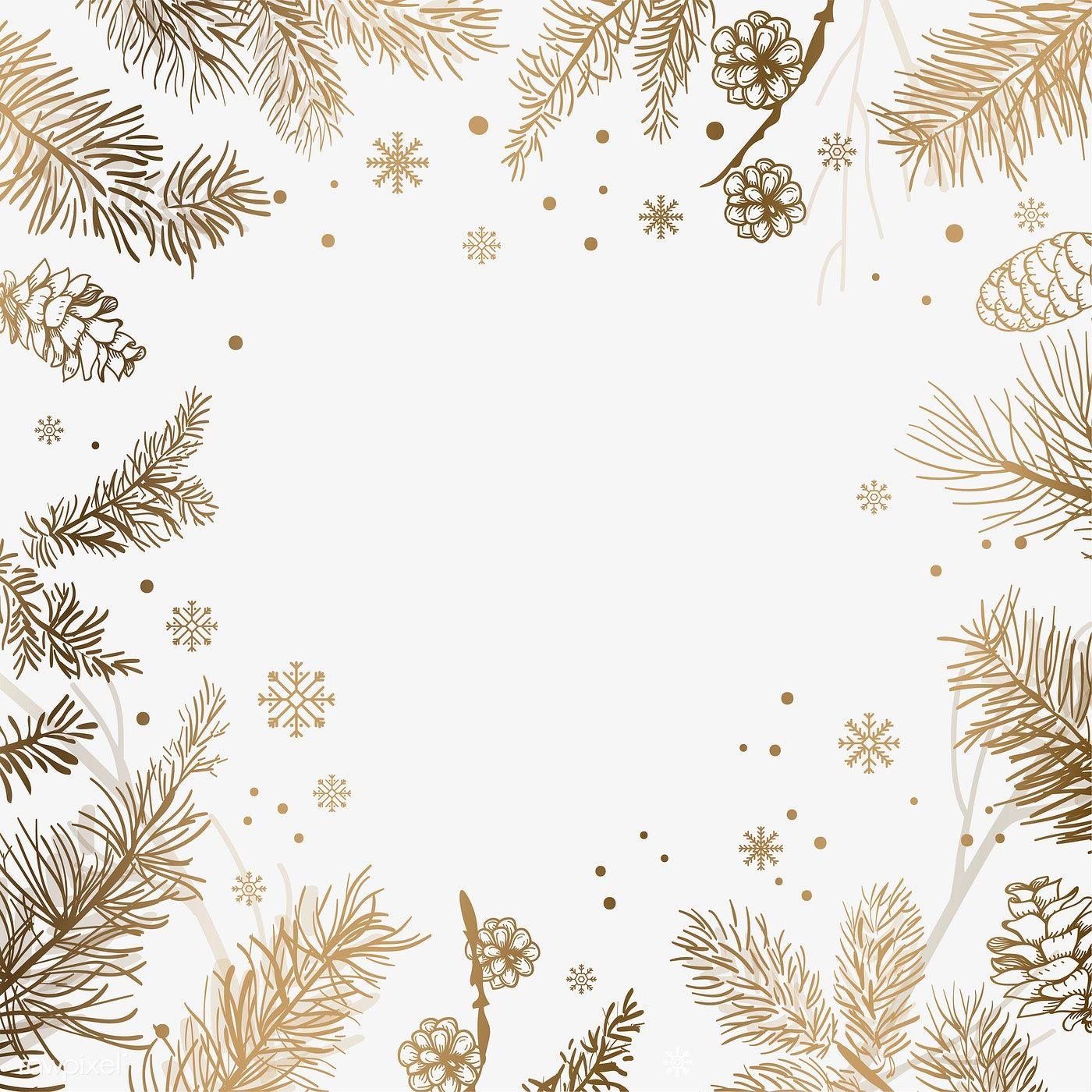 Download Premium Vector Of White Background With Winter Decoration Vector Winter Background Christmas Background White Background