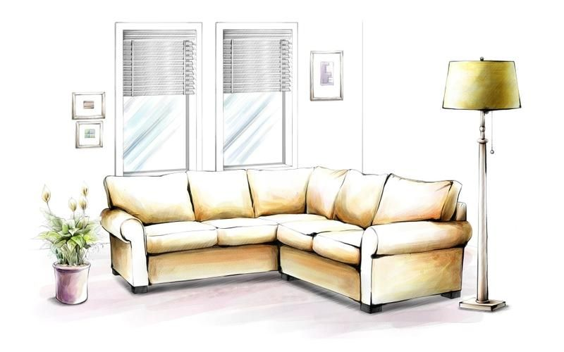 hand drawing interior home - Interior Design Sketches