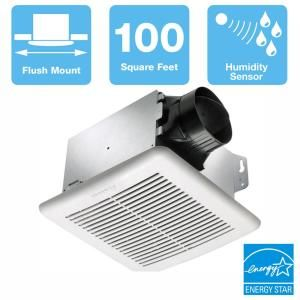 Delta Breez Greenbuilder Series 100 Cfm Wall Or Ceiling Bathroom Exhaust Fan With Adjustable Humidity Sensor Energy Star Gbr100h The Home Depot In 2020 Bathroom Exhaust Fan Bathroom Exhaust Humidity Sensor