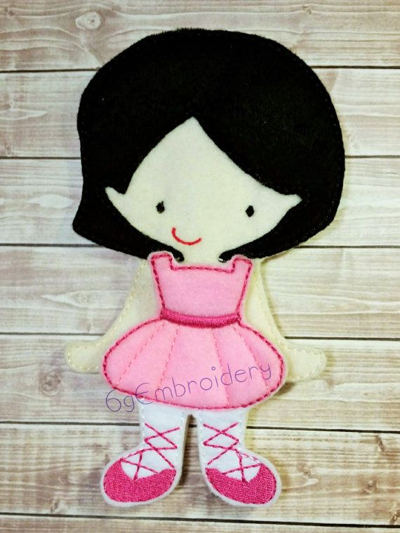 Jessica Non Paper Doll with Ballerina Outfit by 6gEmbroidery