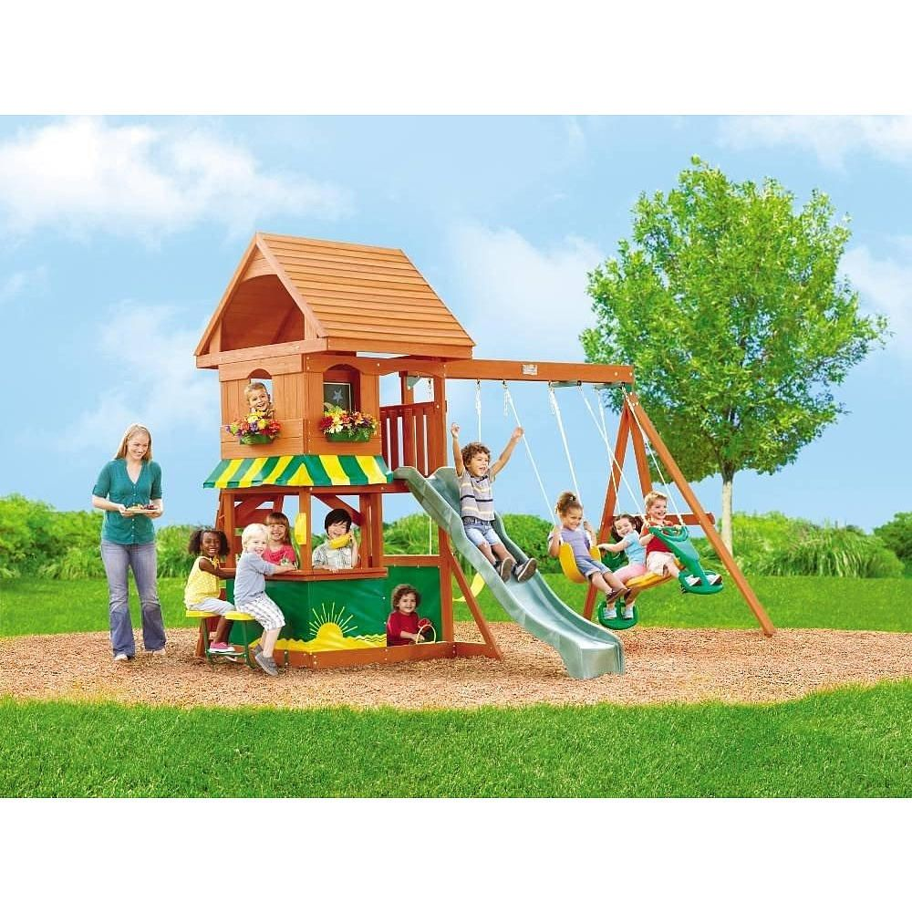 Santa Fe Wood Gym Set Big Backyard Toys R Us