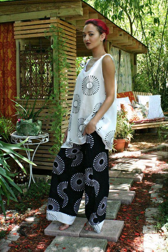 pyjama de coton 100 % de notre nouvelle collection été indien. Edition limitée exclusive fait à la main bloc de tissu imprimé conçu dans la maison