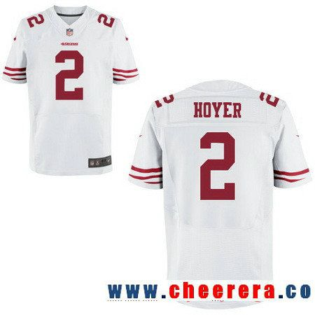 Men S San Francisco 49ers 2 Brian Hoyer White Road Stitched Nfl Nike Elite Jersey Jersey Nfl San Francisco San Francisco 49ers