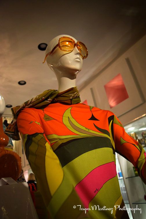 Emilio Pucci fashion display at Design 849, Uptown Design District, Palm Springs, CA. Photo by Tayva Martinez