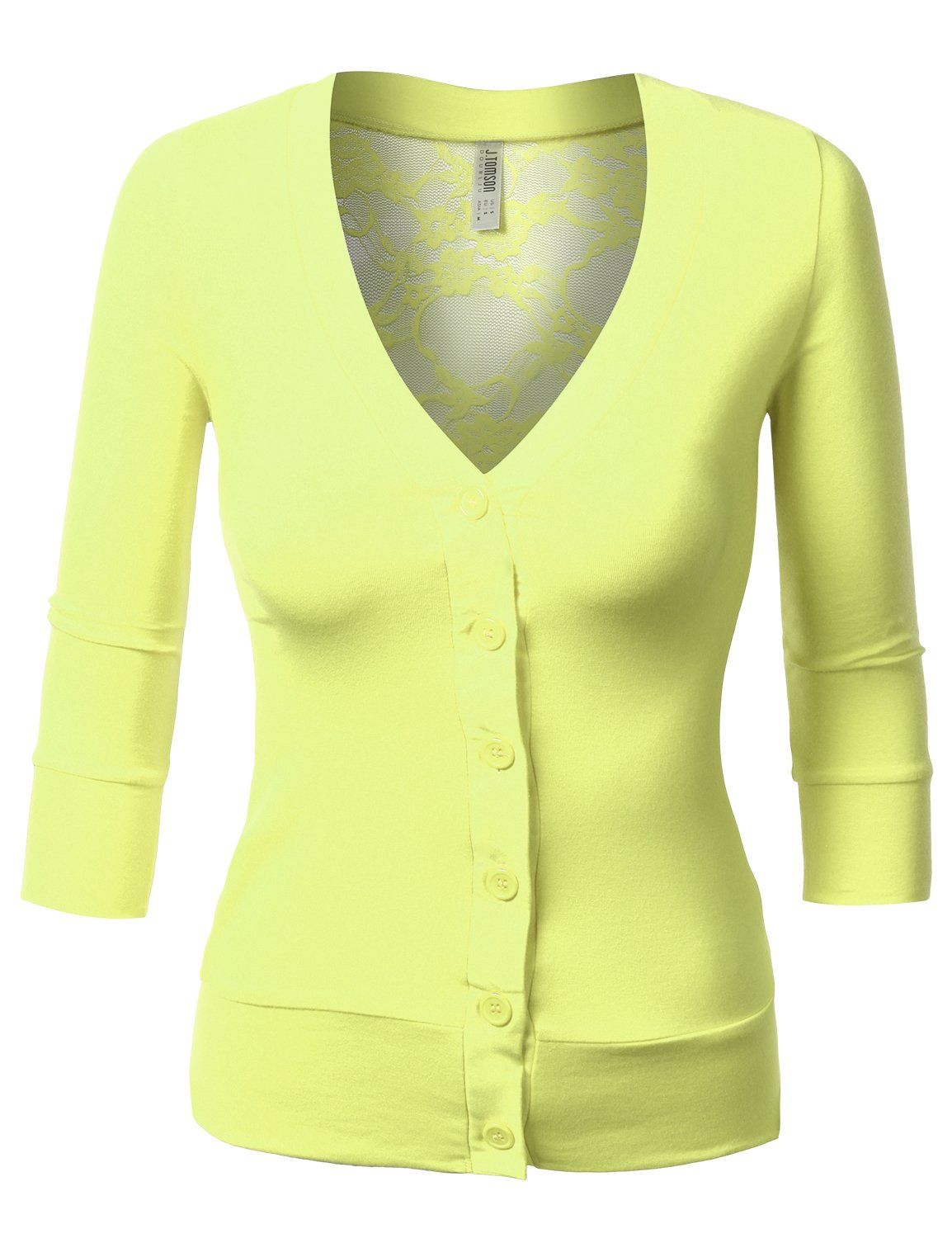 J.TOMSON Womens V-Neck Button Down Cardigan at Amazon Women's ...