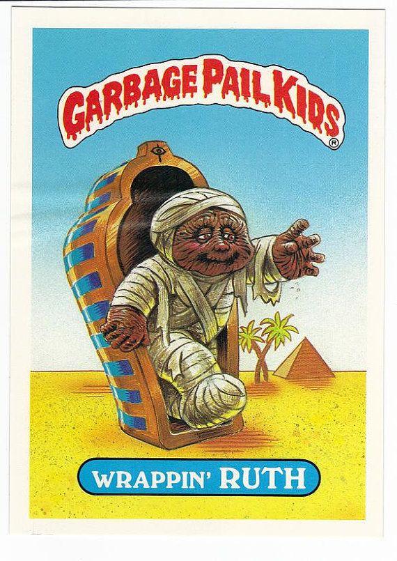 Vintage 1986 Garbage Pail Kids Giant Sticker Card Wrappin Ruth Etsy Garbage Pail Kids Garbage Pail Kids Cards Pail
