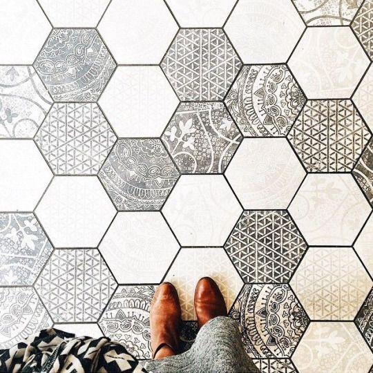 Pin von Kristin Stone auf patterns and beautiful repetitions - deko ideen hexagon wabenmuster modern