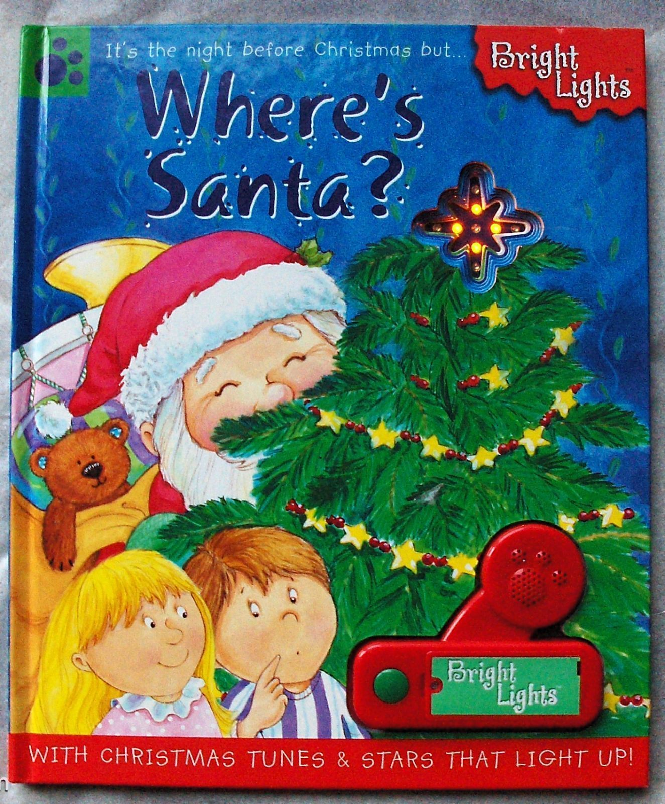 WHERE'S SANTA Bright Lights Twinkle Stars 3 Christmas