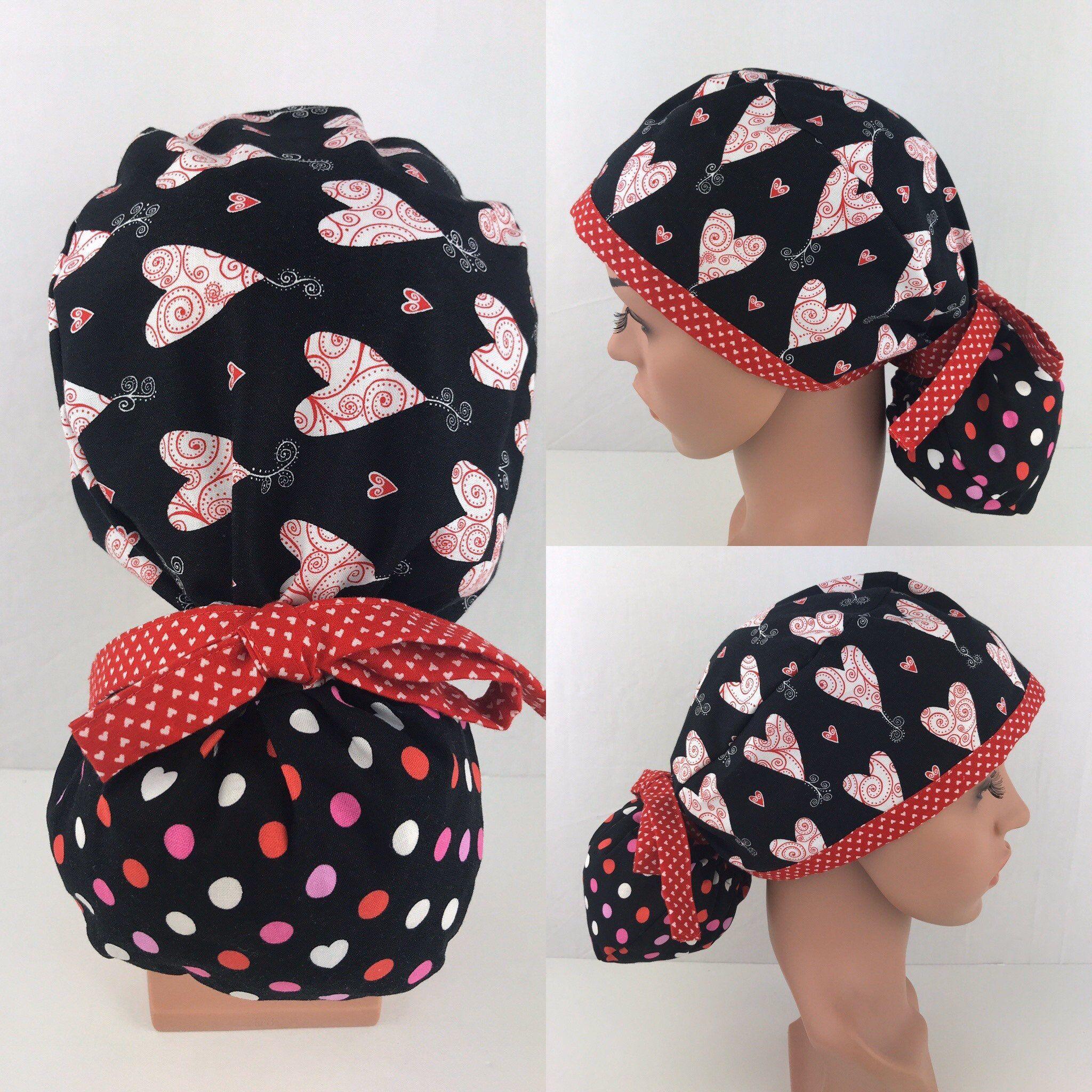 Hearts Scrub  Surgical cap