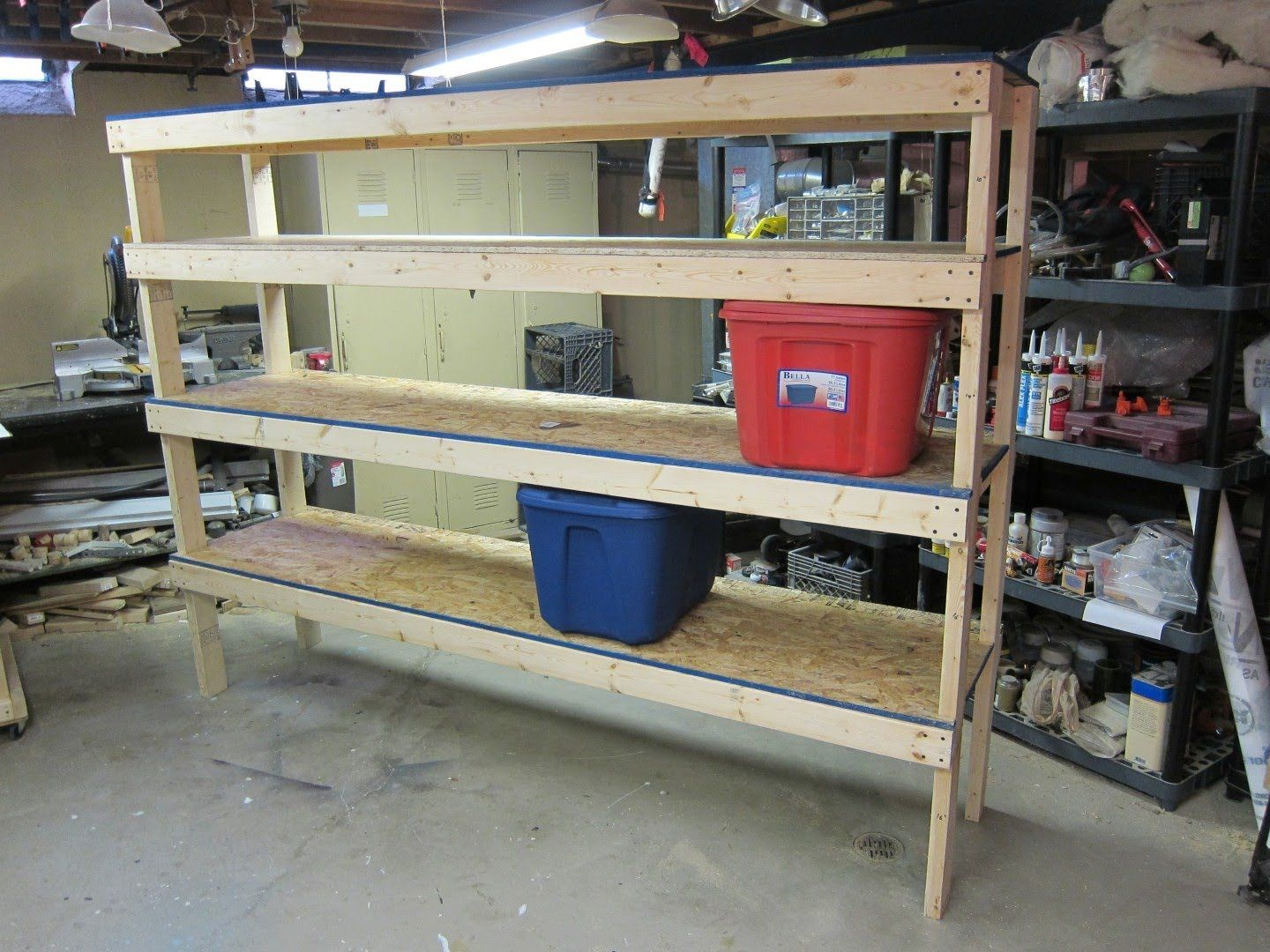 Storage shelf cheap and easy build plans woodworking pinterest