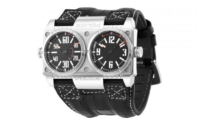 Police Brand Double Face Watch Not Sure About This But I D Wear It At Least Once Police Watches Stylish Watches Men Police Watches Men